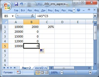 Excel как сделать все ссылки абсолютными