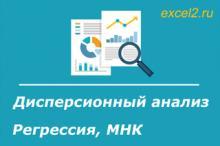 Статистический анализ в MS Excel